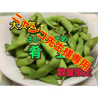 【予約品9/26頃発送】新潟県 黒埼産 肴豆 2kg  A品