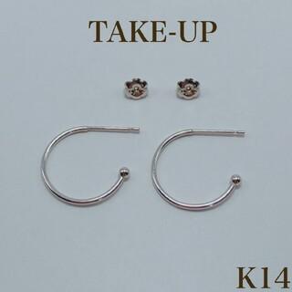 TAKE-UP - TAKE-UP フープ ベース ピアス 14金
