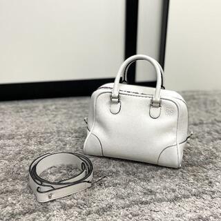 LOEWE - 美品 ロエベ 新ロゴ アマソナ75 スモール 2wayバッグ ホワイト