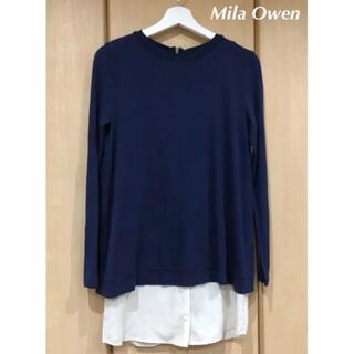 Mila Owen - Mila Owen  長袖カットソー ×シャツ