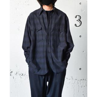COMOLI - COMOLI 21aw ウールシルクワークシャツ 3 コモリ