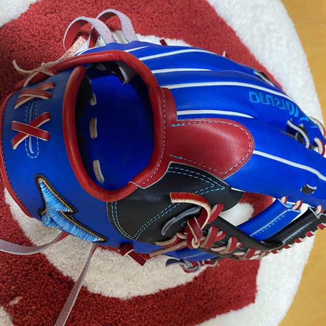 MIZUNO(ミズノ)のミズノプロ 軟式内野手用 オーダー ダイバーシティブルー 波賀ジャパン スポーツ/アウトドアの野球(グローブ)の商品写真