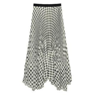 リリーブラウン(Lily Brown)のリリーブラウン ギンガムチェックプリーツスカート(ロングスカート)