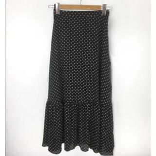 ユナイテッドアローズ(UNITED ARROWS)のティアードドットスカート(ロングスカート)