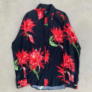 Yohji Yamamoto - ヨウジヤマモト ワイズフォーメン 08aw 彼岸花 花柄シャツ アロハシャツ