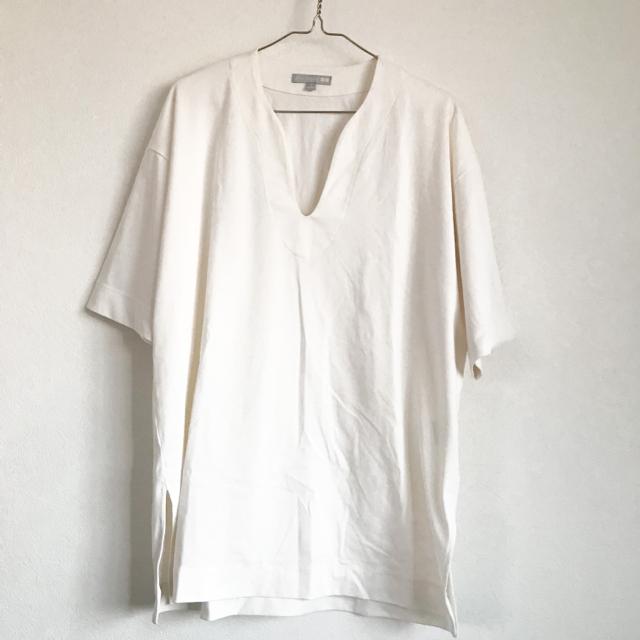 UNIQLO(ユニクロ)のコットンオーバーサイズTシャツ レディースのトップス(Tシャツ(半袖/袖なし))の商品写真