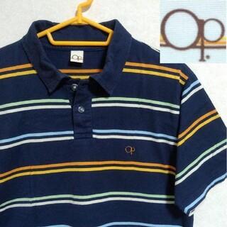 オーシャンパシフィック(OCEAN PACIFIC)のOcean Pacific  / メンズ 半袖 ポロシャツ ボーダー柄 Mサイズ(ポロシャツ)