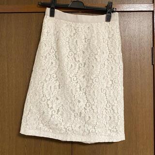 ミッシュマッシュ(MISCH MASCH)の新品タグ付 ミッシュマッシュ レースタイトスカート(ひざ丈スカート)