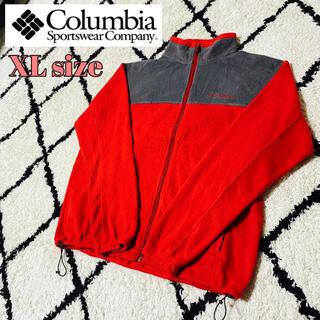 コロンビア(Columbia)のコロンビア ワンポイント 刺繍ロゴ ブルゾン フリースジャケット XLサイズ(ブルゾン)