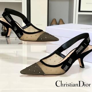 クリスチャンディオール(Christian Dior)の2840 クリスチャンディオール ジャディオール メッシュ ストーン パンプス(ハイヒール/パンプス)