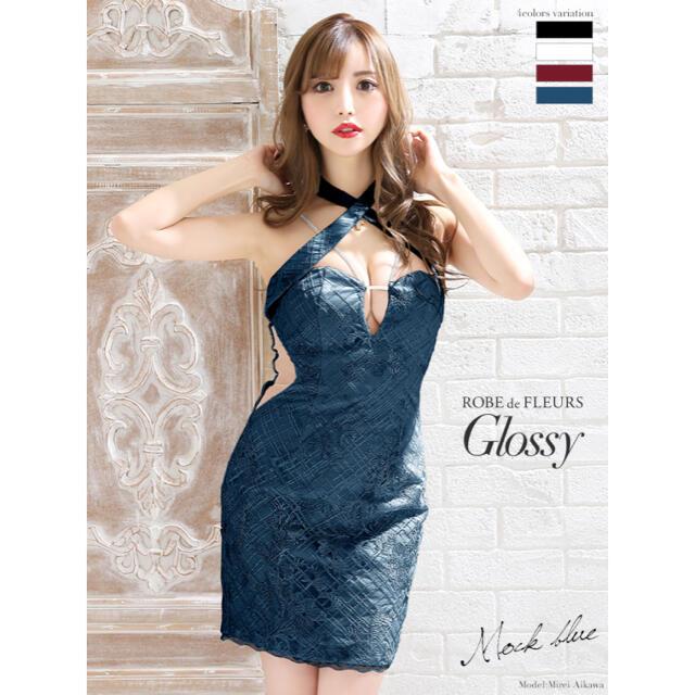 ROBE de FLEURS キャバドレス ローブドフルール 胸元開きミニドレス レディースのフォーマル/ドレス(ミニドレス)の商品写真
