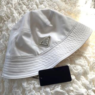 PRADA - PRADA バケットハット ホワイト