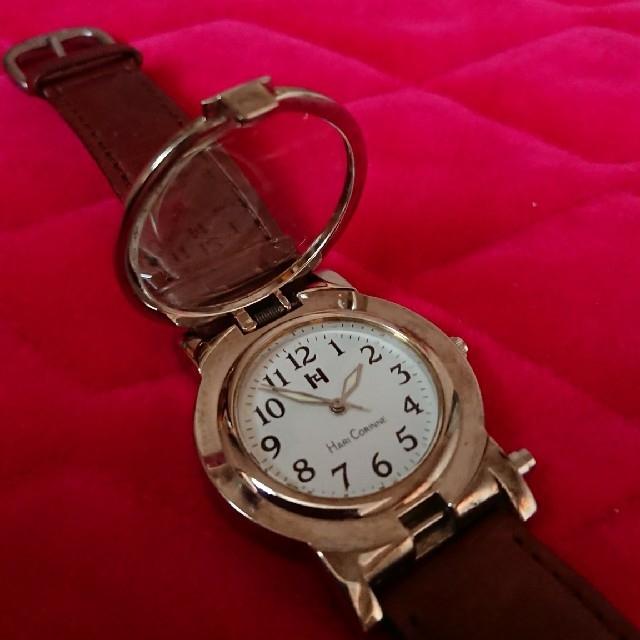 便利なルーペ付き 腕時計 レディースのファッション小物(腕時計)の商品写真