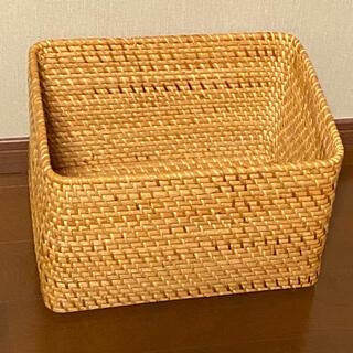 MUJI (無印良品) - 無印良品 重なるラタン長方形バスケット・大