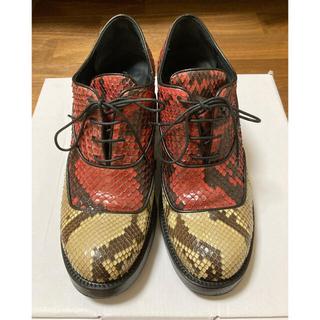 ミュウミュウ(miumiu)のミュウミュウ☆miumiu シューズ☆ヒモ靴☆ヘビ革(ローファー/革靴)
