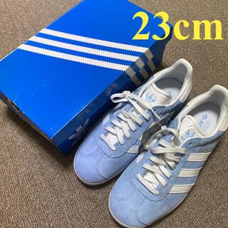 adidas - 新品・未使用!スニーカー アディダス ガゼル 23cm 水色×白