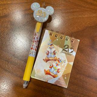 Disney - ディズニーシー 20周年 ボールペン メモ帳 チップ&デール