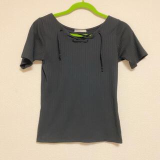 ナイスクラップ(NICE CLAUP)の【NICE CLAUP】レースアップTシャツ(Tシャツ(半袖/袖なし))