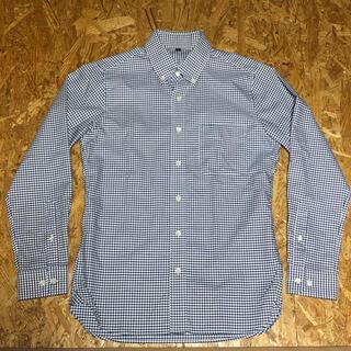 MUJI (無印良品) - 無印良品 ボタンダウンシャツ アイロンがけのいらない ネイビー