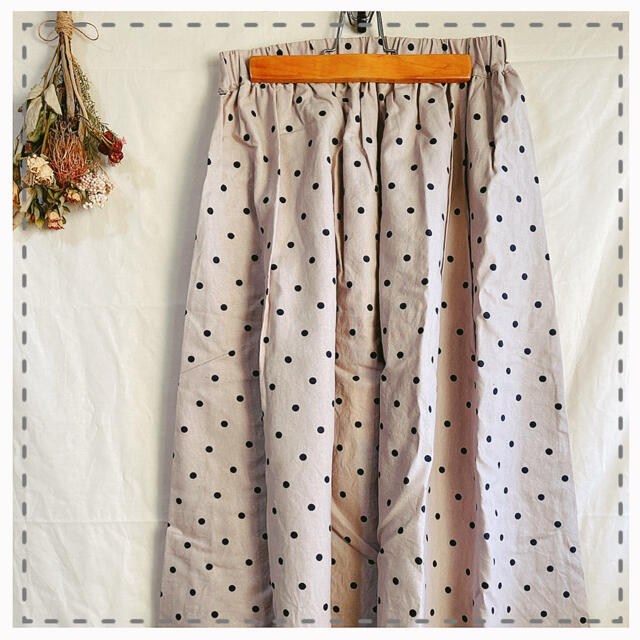 SM2(サマンサモスモス)のジャニ様専用 𓍯 ドット柄ギャザースカート レディースのスカート(ロングスカート)の商品写真