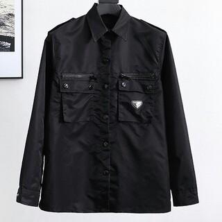 プラダ(PRADA)のニューファッションナイロンポケットジッパーデザインシャツ(シャツ)