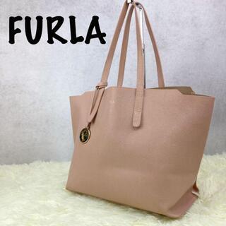 Furla - 【美品】フルラ トートバッグ サリー レザー チャーム ピンク
