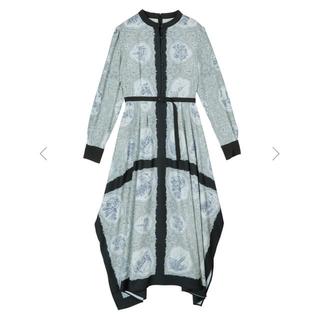 Ameri VINTAGE - アメリ LANDSCAPE SCARF DRESS ブラック Sサイズ