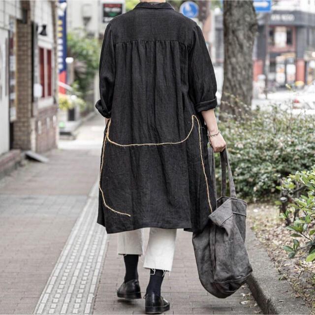 Maison Martin Margiela(マルタンマルジェラ)のARCHIVIO J.M.Ribot リネンシャツコート メンズのジャケット/アウター(ステンカラーコート)の商品写真