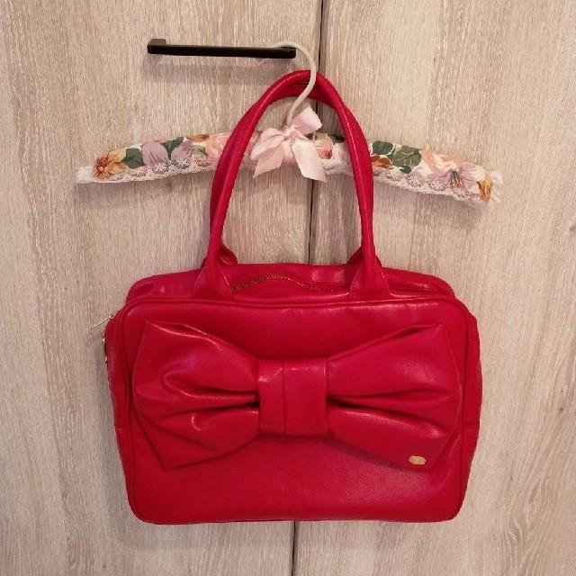 Leur Getter(ルルゲッタ)のルルゲッタ スクエアリボン バッグ レディースのバッグ(ハンドバッグ)の商品写真