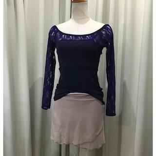 CHACOTT - バレエ ショートパンツ付き パドドゥスカート A ダークモカメッシュxダークモカ