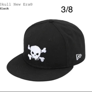 "Supreme - Supreme Skull New Era® ""Black"" 3/8"