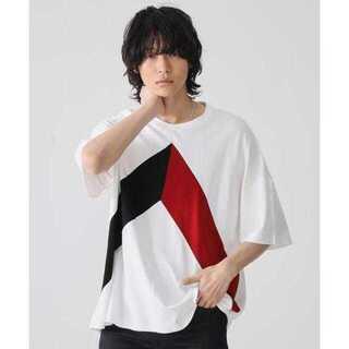 ステュディオス(STUDIOUS)の【STUDIOUS】ブロッキングビッグシルエットTシャツ(Tシャツ/カットソー(半袖/袖なし))