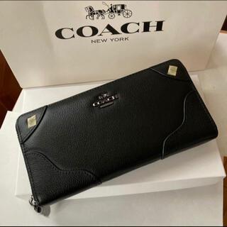 COACH - コーチ長財布 ミッキーグレインレザーF52645 ブラック 箱・紙袋付き