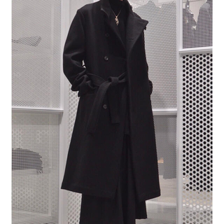 Yohji Yamamoto - Yohji Yamamoto 18aw セミダブルメルトンコート