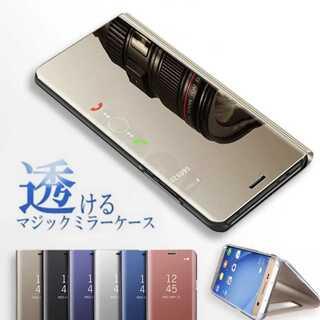 ★即購入OK★鏡面 手帳型 ミラー iPhoneケース クリア 手帳 スマホ