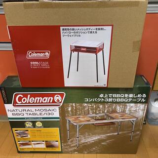 Coleman - コールマン ナチュラル モザイク BBQテーブル クールステージ ツーウェイ