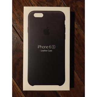 Apple - 新品未開封 iPhone6S,6用 アップル純正レザーケース ブラック