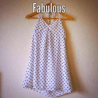 ファビュラスアンジェラ(Fabulous Angela)のFabulous  ドットキャミソール(キャミソール)