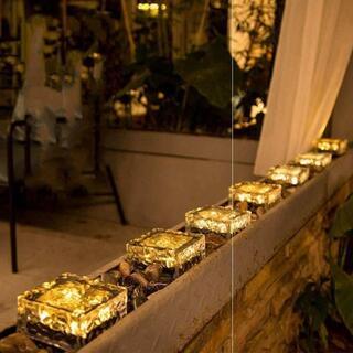 6枚ソーラーライト ガーデンライト 防水 アウトドアライト 歩道 屋外などに適用(シングルカード)