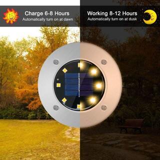 ソーラーライト 屋外 ガーデンライト 埋め込みライト 4個セット 太陽光 充電(シングルカード)