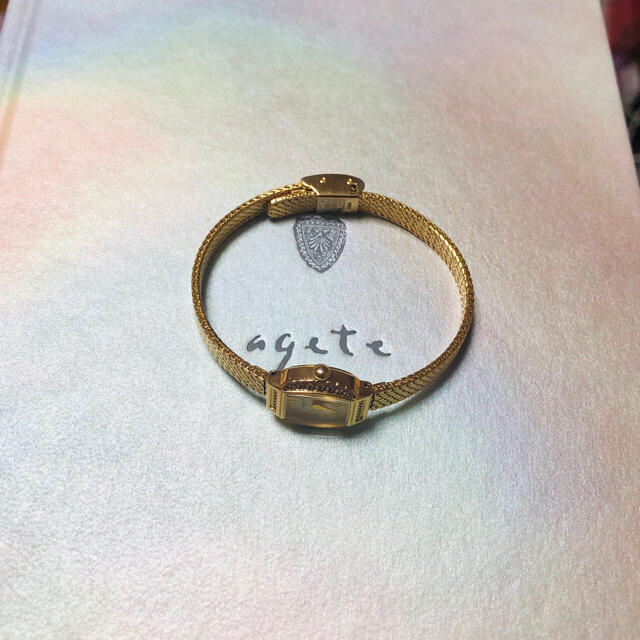 agete(アガット)のアガット K10 ダイヤ 時計 YG agete レディースのファッション小物(腕時計)の商品写真