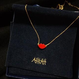 AHKAH - ahkah アーカー K18 キスミーローズ ネックレス リップ