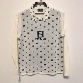 フェンディ(FENDI)のFENDI  フェンディ  ニットポロシャツ ズッカ柄(ポロシャツ)