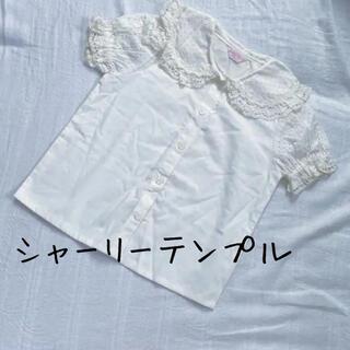 Shirley Temple - シャーリーテンプル ブラウス ふりる 水玉 半袖 シャツ