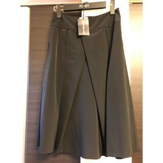 フォクシー(FOXEY)のフォクシーニューヨーク 黒スカート 美品(ひざ丈スカート)