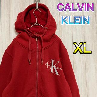Calvin Klein - カルバンクライン CALVIN KLEIN プルオーバーパーカー XL ゆるだぼ