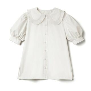 グレイル(GRL)のGRL 新品タグ付き フリルブラウス 襟付き(シャツ/ブラウス(半袖/袖なし))