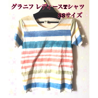 グラニフ レディース Tシャツ SSサイズ キッズ 半袖 カジュアル 小さめ