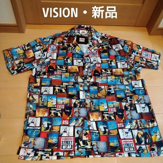 VISION STREET WEAR - 新品未使用✨VISION 半袖 アロハシャツ M ストリート ボタンシャツ
