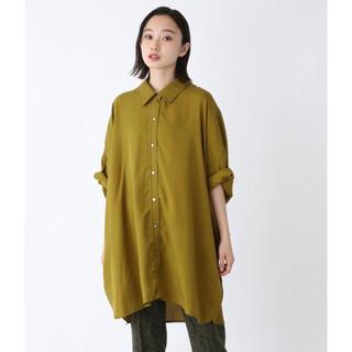 新品未使用タグ付き ジーナシス テンセルツイルビッグシャツ